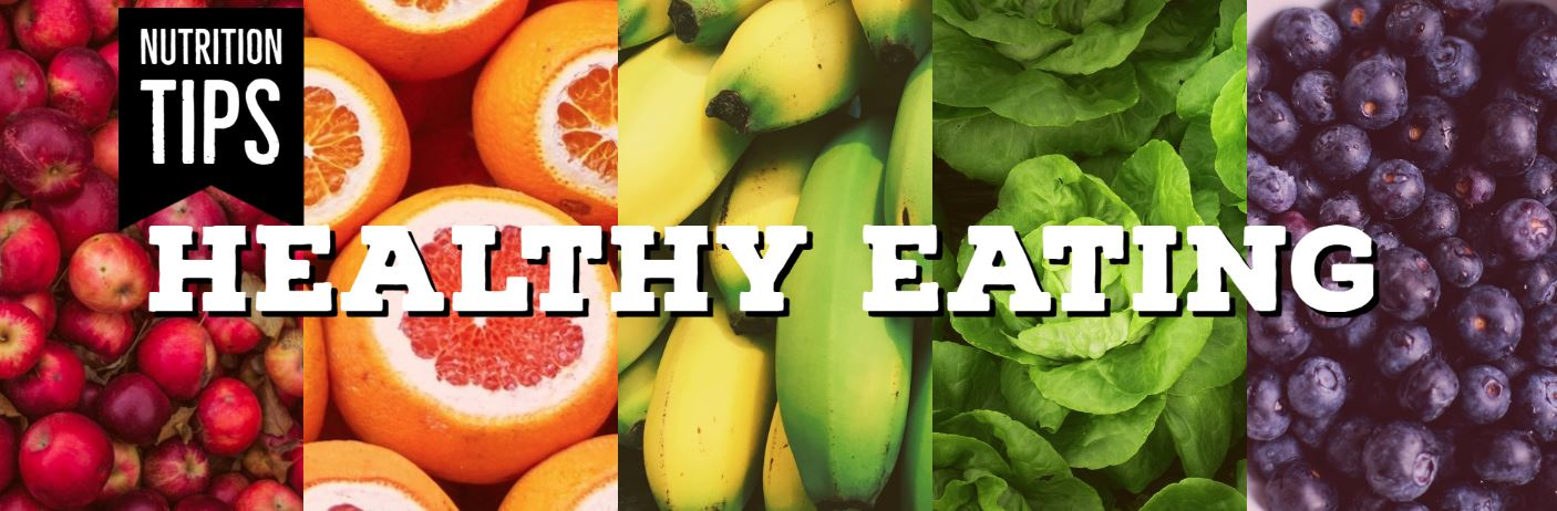 banner of healthy foods